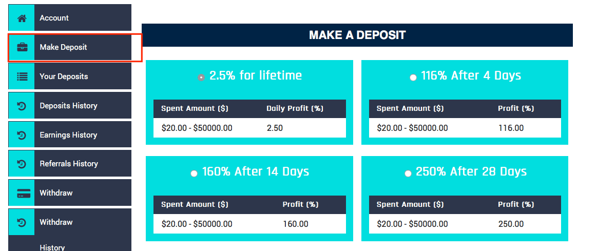 Bitferno-finance.com депозит