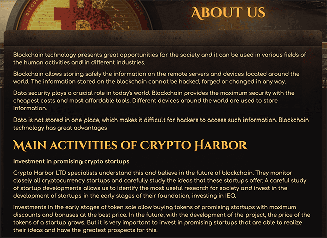 Crypto-harbor.org about the project
