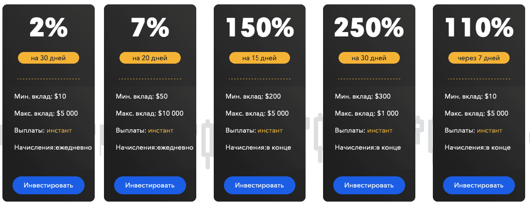 Сryptopumps.group тарифные планы