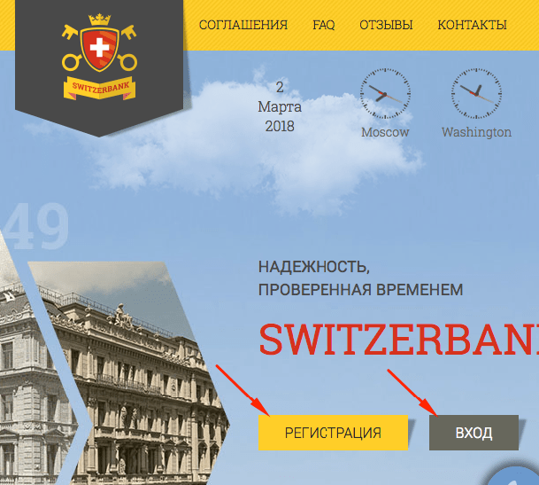 Switzerbank.ch регистрация